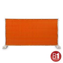 Tissu pour masquage de barrière Type 800, 1,76 x 3,41 m, avec œillets, orange
