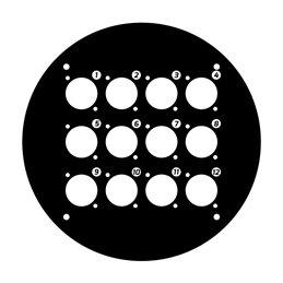 Plaque avant pour enrouleur de câble 70225 avec 12 perçages au format D
