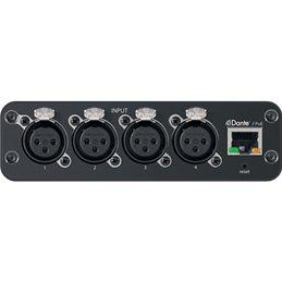 Interface audio réseau Dante 4 entrées / XLR