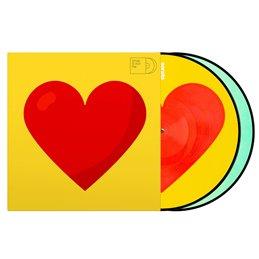 Vinyl Control Tone 12P emoji Donut/Heart, paire