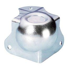 Coin Boule médium avec Passage de Profilé 30 mm avec Renfort d'Angle intégré 42,5 mm et Estampage