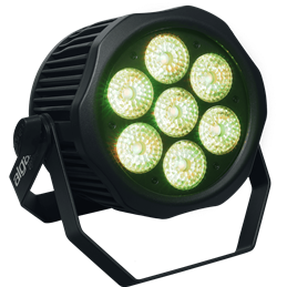 PAR LED IP65 - 7 x 12W HEX