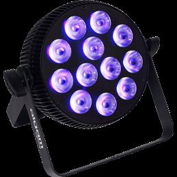 Projecteur à LED 12x10W 6-en-1 RGBWAU slim