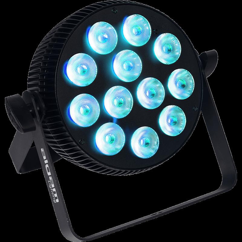 Projecteur à LED 12x10W 4-en-1 RGBW slim