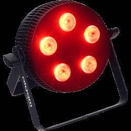 Projecteur à LED 5x10W 4 en 1 RGBW slim