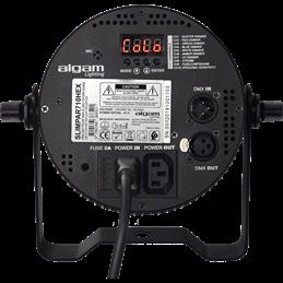 Projecteur à LED 7x10W 6-en-1 RGBWAU slim