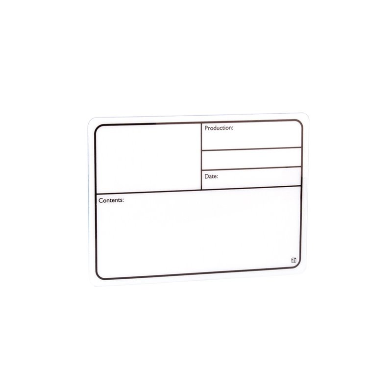 Plaque Signalétique adhésive plastique blanc 220 x 150mm