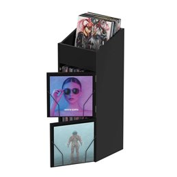 RECORD BOX DISPLAY DOOR BLACK