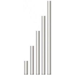 PIED FIXE en TUBE ALU 50x3x575mm, HT 0,60 plancher avec embout PVC