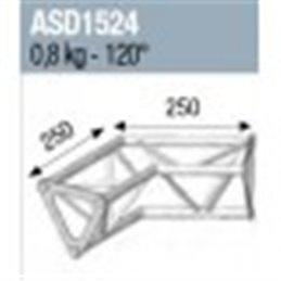 ANGLE 2D 120° SECTION 150 ALU TRIANGULAIRE