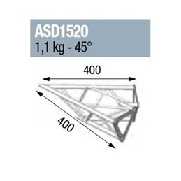 ANGLE 2D 45° SECTION 150 ALU TRIANGULAIRE