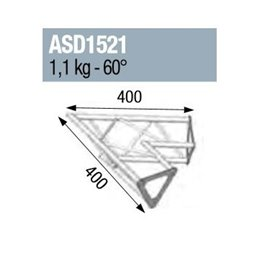 ANGLE 2D 60° SECTION 150 ALU TRIANGULAIRE