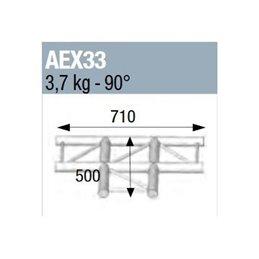 ANGLE 90° 3 DEPARTS A PLAT POUR ECHELLE PLATE 290
