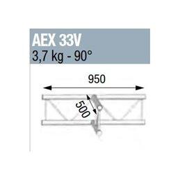 ANGLE 90° 3 DEPARTS A PLAT POUR ECHELLE VERTICALE 290